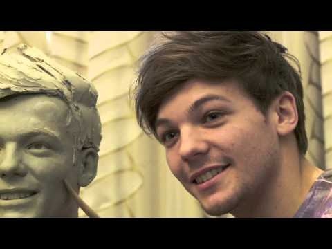 Sculpting Louis Tomlinson from One Direction at Madame Tussauds London