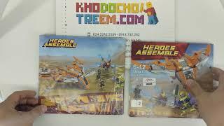 Hướng dẫn lắp ráp Sheng Yuan SY1043 Lego Marvel Super Heroes 76107 Ultimate Battle Building Kit