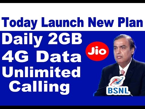 (GOOD NEWS) Today Launch New Plan Daily 2GB 4G Data Unlimited Calling | Who Is Reliance Jio Or BSNL