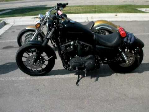Harley Davidson Iron 883 & Yamaha V Star 1100 - YouTube