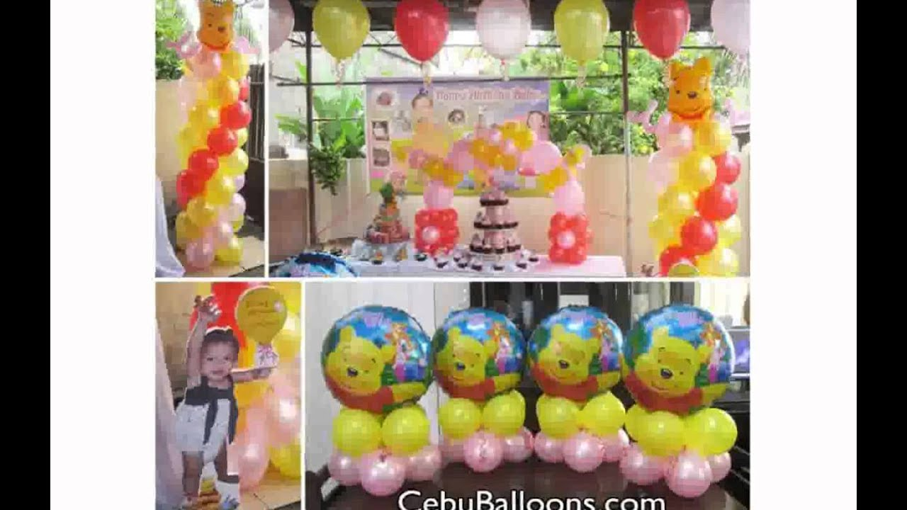 Winnie the pooh birthday decorations youtube for R b party decorations