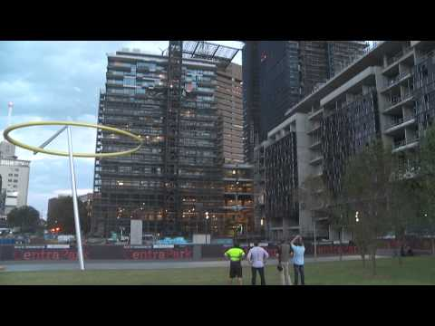 One Central Park's spectacular heliostat takes shape at Central Park, Sydney_February 2013