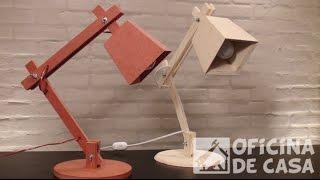 Luminária de madeira #DIY • Oficina de Casa