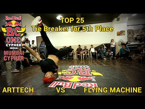 Tie Breaker for 5th Place - Arttech vs Flying Machine - Red Bull BC One India - Mumbai Cypher 2018