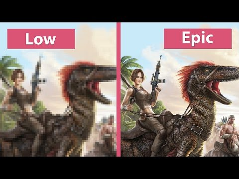 Ark: Survival Evolved – PC Low vs. Medium vs. High vs. Epic Graphics Comparison [60fps][FullHD]