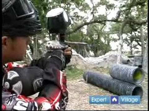 How to Play Paintball : How to Aim a Paintball Gun