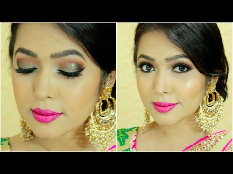Eid Makeup Tutorial | Black & Gold Smokey Eye | Indian/Bangladeshi Makeup