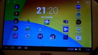Teste de conexão do HD externo no Genesis GT-7305