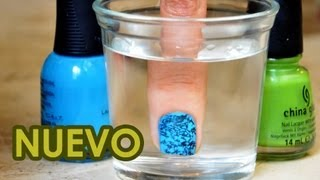 Nueva técnica para decorar uñas con agua | Uñas decoradas con esmalte | Decoración con agua