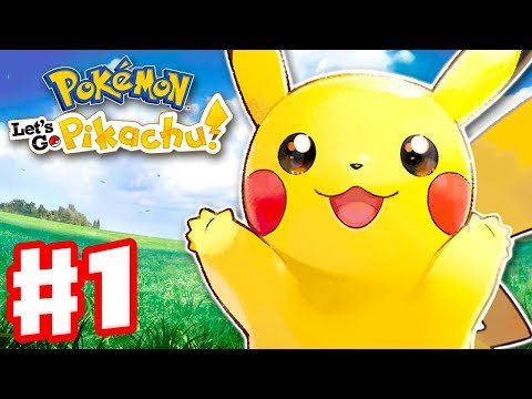 Pokemon Lets Go Pikachu and Eevee - Gameplay Walkthrough Part 1 - Intro and Gym Leader Brock
