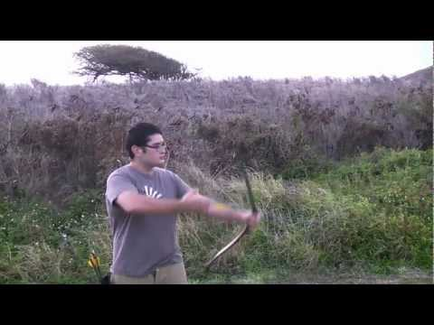Shooting the Egyptian Style Reflex Deflex PVC Bow From Different Angles.mpg
