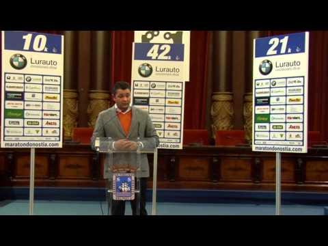 Presentacio�n BMW Lurauto 37 Marato�n de San Sebastia�n