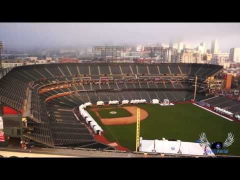 Aerial View of AT&T Park Home of the MLB San Francisco Giants By SkyHiAerial Multicopter - Alexmos