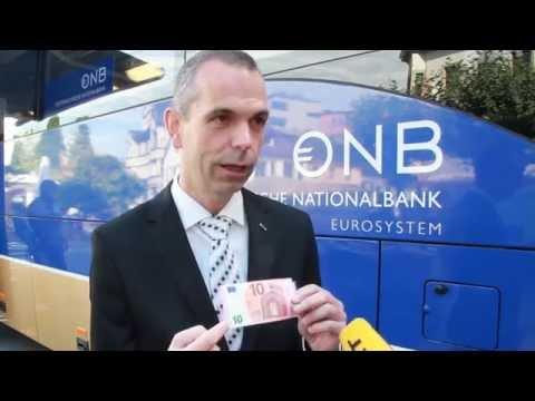 Nationalbank mit 10-Euro-Note auf Vorarlberg-Tour
