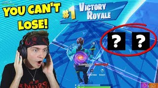 YOU can't lose if you use this combo in fortnite... (so unfair)