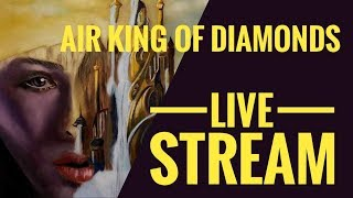 Live Stream -   Painting Air King of Diamonds with Pastels on Pastelmat 2019