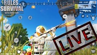 LIVE????RULES OF SURVIVAL MOBILE - PROFESSIONAL SOLO GAMES / CUSTOM GAMES