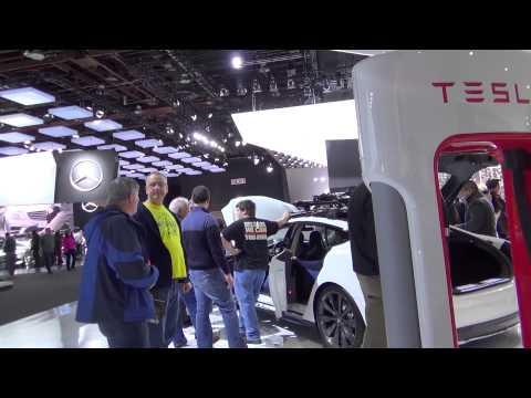 Tesla Motors at Detroit International Auto Show 2014