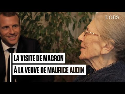 Les images historiques de la visite d'Emmanuel Macron à Josette Audin