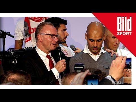 """Bayern-Bankett: Rummenigge verabschiedet Pep - """"Was mich ein bisschen ärgert..."""""""