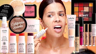 I TRIED A FULL FACE OF NEW NYX MAKEUP! watch before buying!
