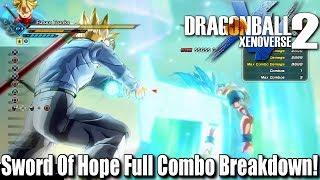 Future Trunks Sword Of Hope Full Combo Breakdown! | Dragon Ball Xenoverse 2