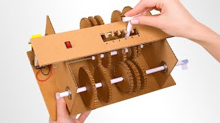 Battery-Operated DIY Gearbox From Cardboard