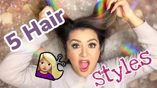 5 STYLES FOR SHORT HAIR!!