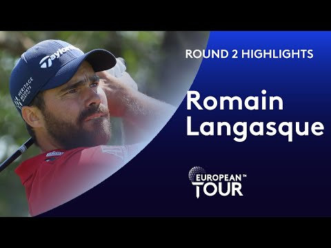 Romain Langasque shoots 64 with incredible hole-out eagle |  Round 2 Commercial Bank Qatar Masters
