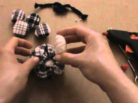 Como fazer bonequinha de fuxico