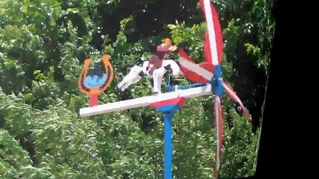 Veletas molinos de viento whirligigs hechos a mano youtube for Molinos de viento para jardin