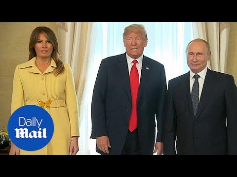 Melania Trump pulls face after shaking Vladimir Putin's hand - Daily Mail