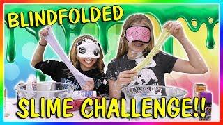 BLINDFOLDED SLIME CHALLENGE | SABOTAGE! | We Are The Davises