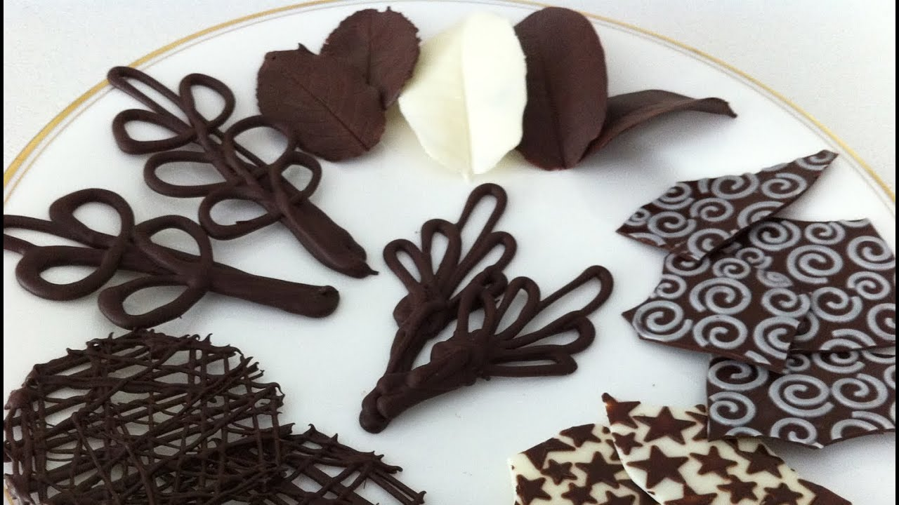 how to make chocolate garnishes decorations tutorial PART ...