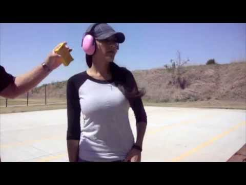 Flashbang bra holster demo.  Fast, safe and practical.