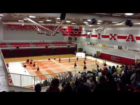 Lafayette winter guard at Nixa high school