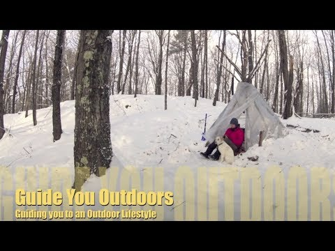 Winter Camping in a Tipi Hot Tent