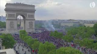 People take to streets of Paris to celebrate France's World Cup victory