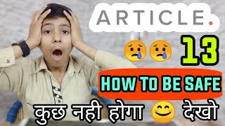 Ghanta Safe From Article 13 Youtube India Europe | Channel Close Terminate | Article 13 Explained