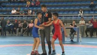 Спорт. Вольная борьба. Первенство Кыргызстана среди кадетов-2017. Часть 7
