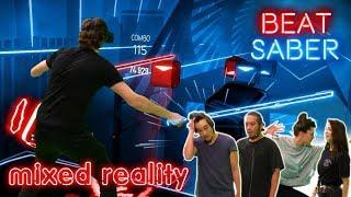 Mixed Reality Expert Battle Run in Beat Saber VR   mit Krogi, Budi, Nasti, Chris VR-Nerds uvm.