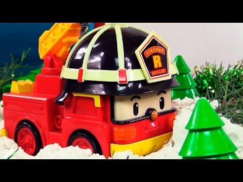 Новогодние мультфильмы про машинки: Робокар Поли спасает Роя