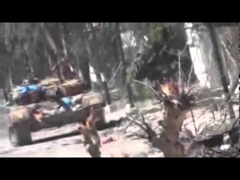 Assad Punks Kofi Annan pt7 Tanks Attack Homs City on Truce Day 10 April 12