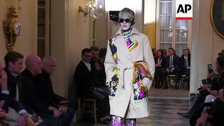 Donatella Versace launches Menswear AW 18/19 collection after triumphant Golden Globes outing