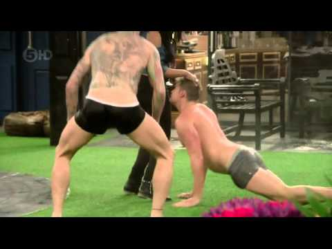 Lewd conduct from some of the more ribald contestants on CBB UK series 17, once they've all downed the booze and worked themselves up into a raunchy tizz.