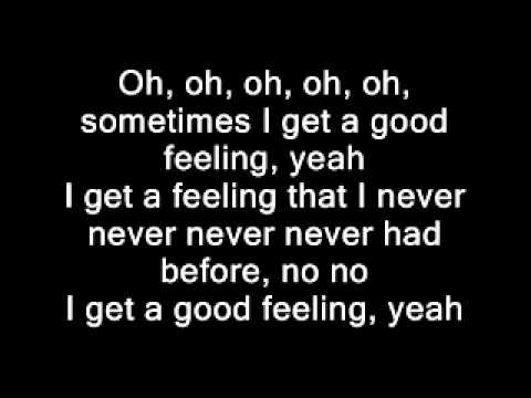 Flo Rida - Good Feeling(Lyrics on screen)