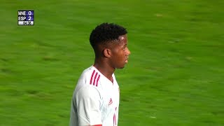 Ansu Fati Debut For Spain U-21 vs Montenegro | 2019 HD 1080i