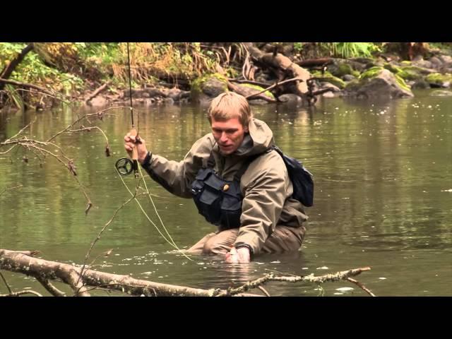 ловля нахлыстом на малых реках видео