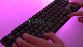 Keychron K1 Bluetooth Low-profile Mech Keyboard - light modes & typing sound demo