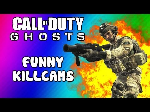 COD Ghosts Funny Killcams - Log Kill, Riot Shield Trap, Slide Shot, Wall Bang (Trolling / Funtage)